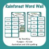 Rainforest Word Walls