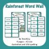 Rainforest Word Walls