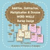 Addition Subtraction Multiplication Division Word Walls