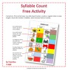 Syllable Count Free Teaching Resource