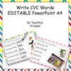 Writing CVC Words Activity Editable