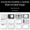 Teacher Mega Planner Black and White Design