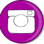 instagram button purple teachezy
