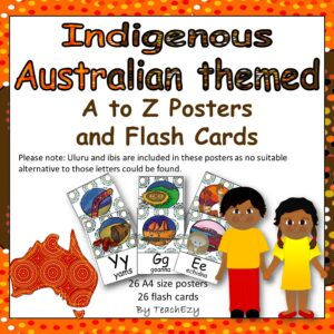 Indigenous Australia posters and flash cards square cover