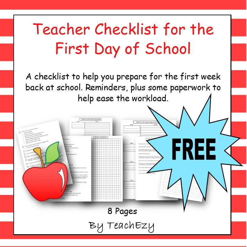 First day of school for teachers-Preparing yourself cover