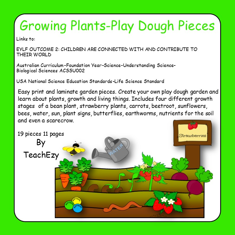 Growing Plants-Play Dough Pieces