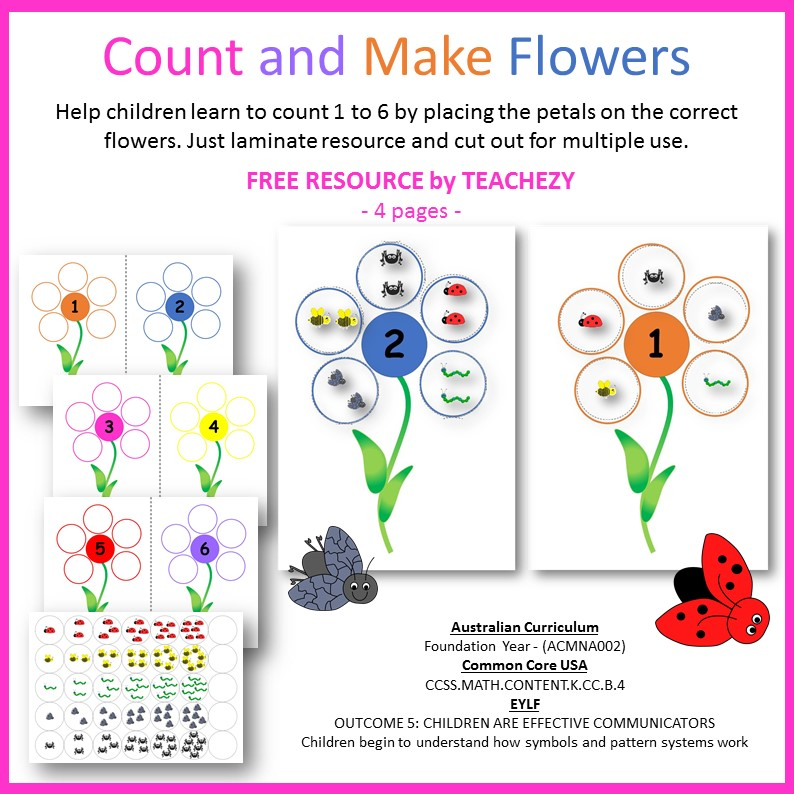 counting and make flowers by teachezy