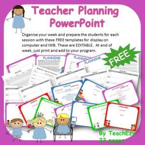 teacher planning powerpoint cover