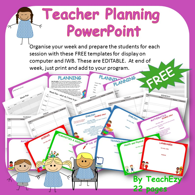 teacher planning powerpoint cover