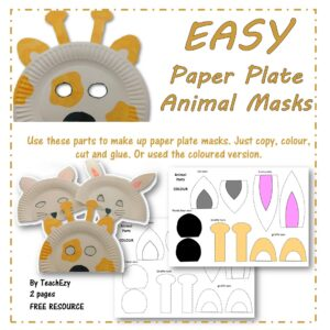 Paper Plate Animal Masks Cover
