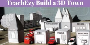 TeachEzy Build a 3D Town Free Resource