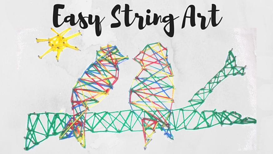 String art header