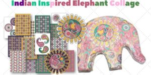 Indian Inspired Elephant Collage