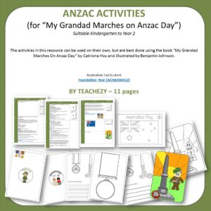 ANZAC Day Activities for My Grandad Marches on ANZAC Day cover