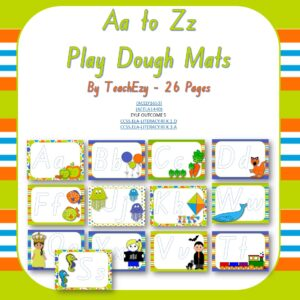 a to z play dough mats cover