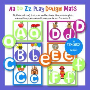 A to Z play dough mats cover
